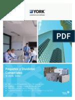 Paquetes y Divididos Comerciales YORK R410A 50Hz