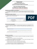 MDS GPD Guia Preenchimento Documento Visao Sistema