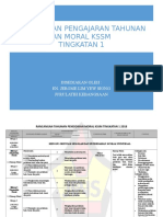 Rancangan Pengajaran Tahunan Pendidikan Moral Kssm Tingkatan 1
