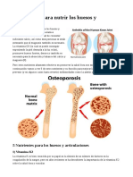 5 Nutrientes Para Nutrir Los Huesos y Articulaciones