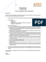 5 Letter of Commitment ITEN Workshop