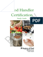 Food Handler Certification Study Guide Sample