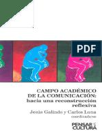 Portada campo académico de la comunicación