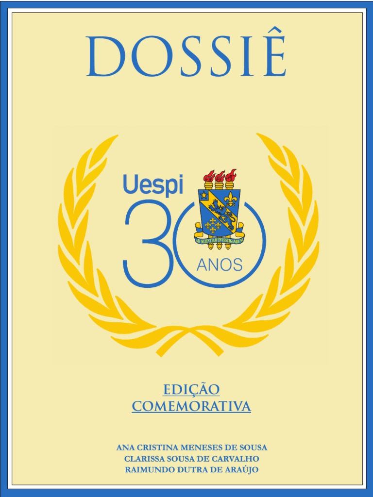 Dossie uespi 30 anos fandeluxe Choice Image
