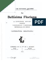 Nataniel Aguirre - La bellísima Floriana-La quintañona-Don Ego-Poesías-Visionarios y mártires-Represalia de héroe