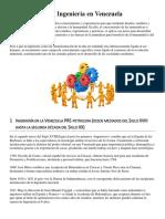 Cronología de La Ingeniería en Venezuela