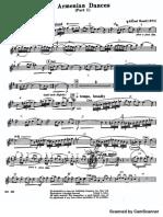 Various clarinet 1 parts