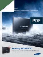 Samsung SSD 850 EVO Brochure