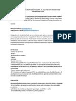 GUÍA PRÁCTICA DE TERAPIA OCUPACIONAL EN ADULTOS CON TRAUMATISMO CRANEOENCEFÁLICO