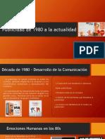 Publicidad de 1980 a La Actualidad