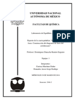 Práctica 4. Equilibrio Entre Fases. Construcción Del Diagrama de Fases Del Ciclohexano.