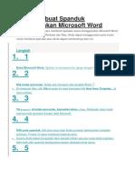 Cara Membuat Spanduk Menggunakan Microsoft Word