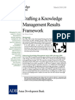 Crafting Knowledge Management Results Framework