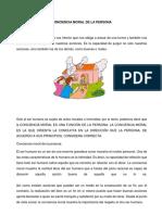 Conciencia Moral de La Persona y Deontologia Como Etica Profesional