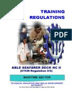 TR Able Seafarer Deck NC II (II-5)