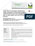Audit Improves Emergency Department Triage, Assessment, Multi-modal Analgesia and Nerve Block Use in the Management of Pain in Older People With Neck of Femur Fractur