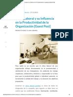 Clima Laboral y Su Influencia en La Productividad de La Organización [Guest Post]