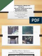 Plan de Ordenación y Manejo de La Subcuenca Priginal