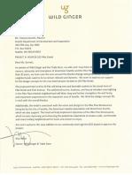 Rick Yoder letter