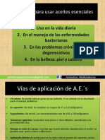 Protocolo Del Uso de Aceites Esenciales