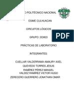 Practica 1 - 7 CIRCUITOS LÓGICOS I ESIME CULHUACAN