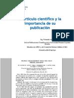 13 El Articulo Cientifico y La Importancia de Su Publicación