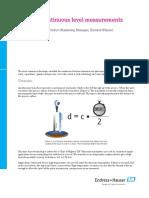 Basics of Continuous Level Measurements
