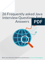 26 Frequently asked Java Interview Questions and Answers