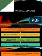 Tips to Write Summary