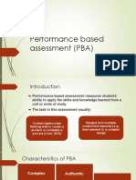 Performance Based