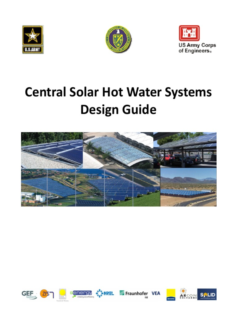Handbook Central Solar Hot Water Systems Design Guide Cool Cold Ice2 Cooling Pad 156 Inch Heating Hvac