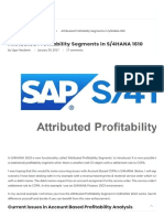 Attributed Profitability Segments in S_4HANA 1610 – S_4HANA Blog