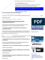 20 TOP JUNCTION DIODES Questions and Answers PDF JUNCTION DIODES Interview Questions and Answers