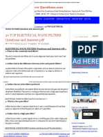 20 Top Electrical Wave Filters Questions and Answers PDF Electrical Wave Filters Questions