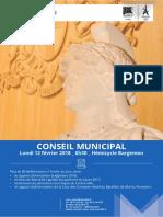 Le dossier de presse du conseil municipal du 12 février 2018