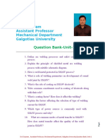 Unit 1 Question Bank Welding Engineering