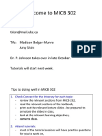 Microbiology MICB 302 notes
