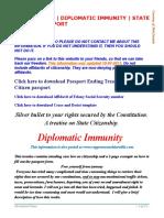 Beat the Law - Diplomatic Immunity - State Citizen Passport