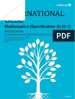 EDEXCEL International GCSE in Mathematics Specification