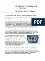 3. Classical Greek Tragedy and Theatre Early Classical Theater