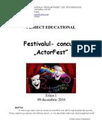 proiect teatru - ActorFest