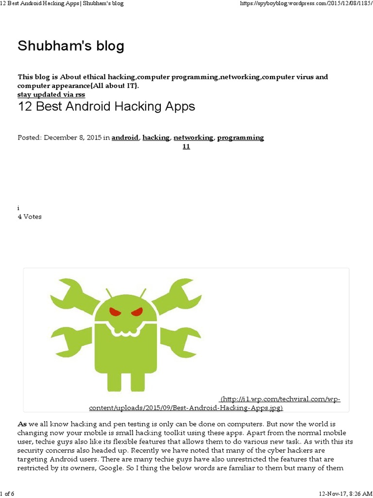 12 Best Android Hacking Apps | Android (Operating System) (10 views)