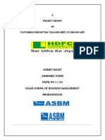 A Study Report on Customers Perception Towards HDFC Standard Life
