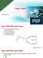 Quiz - SAR ADC Input Types