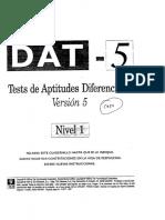Cuadernillo Test DAT 5-Nivel 1