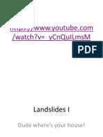 Landslides 1 for Notes