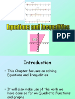 3) C1 Equations and Inequalities