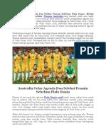 Australia Gelar Agenda Dan Seleksi Pemain Sebelum Piala Dunia 2018.