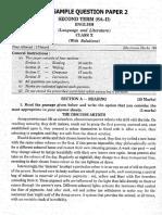 English Sa2 Solved Sample Paper2