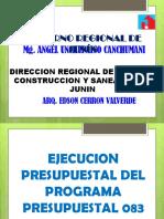 EJECUCION PRESUPUESTAL 083